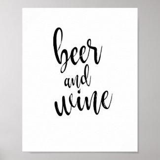 Teken van het Huwelijk van het bier en van de Wijn Poster