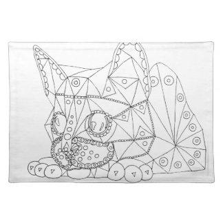 Tekening van Aannemelijke Kat voor het Kleuren Placemat