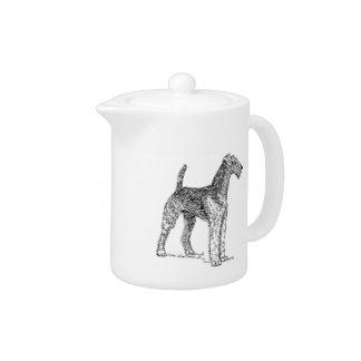Tekening van de Hond van Airedale Terrier de