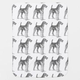 Tekening van de Hond van Airedale Terrier de Inbakerdoek