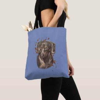 Tekening van de Kunst en de Verf van de Hond van Draagtas
