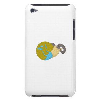 Tekening van het Wereldbol van het Midden-Oosten iPod Touch Hoesje