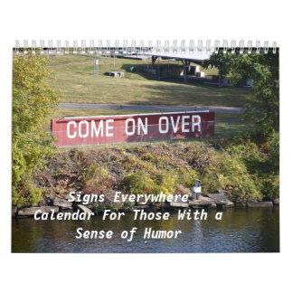 Tekens overal, Kalender