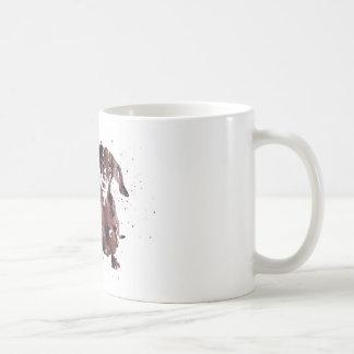 Tekkel, de druk van de de hondwaterverf van de koffiemok