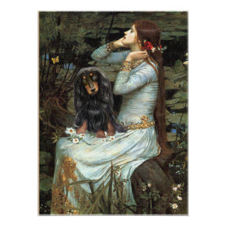 Tekkel (langharig BT) - Gezette Ophelia Poster