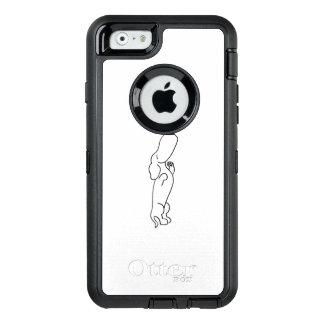 Tekkel met Vlinder OtterBox Defender iPhone Hoesje