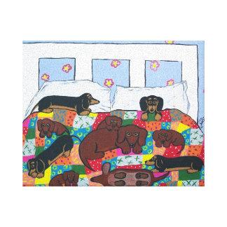 Tekkels in het Art. van het Canvas van het Bed