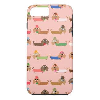 Tekkels op Roze iPhone 8/7 Plus Hoesje