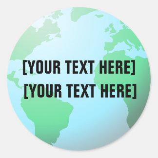 Tekst de van het Achtergrond wereldbol van de Ronde Sticker