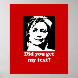 Teksten van Hillary Poster