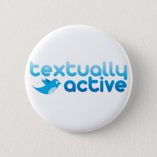 Tekstueel Actief op Tjilpen Trendy Texting Ronde Button 5,7 Cm