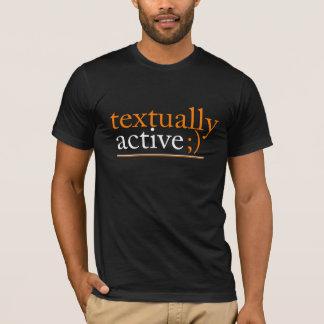 Tekstueel actief t shirt