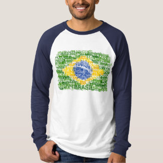 Tekstueel Brazilië T Shirt
