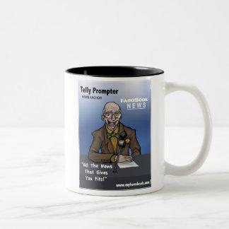 Telly Prompter- MyFarcebook News Network Anchorman Tweekleurige Koffiemok