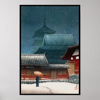 Tempel Tennô -tennô-ji in van hasuikawase van Poster
