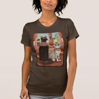 Tempel van het Overhemd van de Kunst van de Kat T Shirt