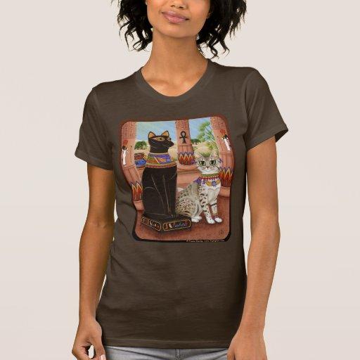 Tempel van het Overhemd van de Kunst van de Kat va Tshirt