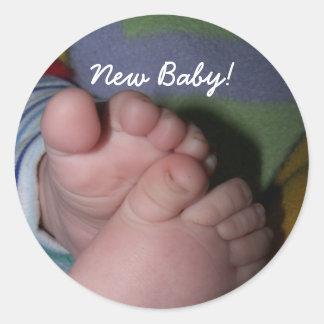 tenen, Nieuw Baby! Ronde Sticker