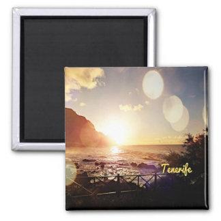 Tenerife, die Lichten gelijk maken Vierkante Magneet