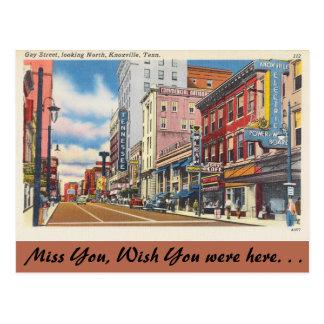 Tennessee, Vrolijke Straat, Knoxville Briefkaart