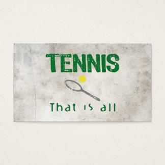 Tennis dat allen is visitekaartjes
