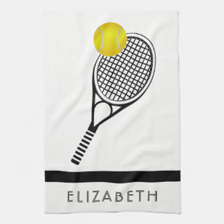 Tennis Gepersonaliseerde Naam of Monogram Theedoek