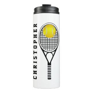 Tennis Gepersonaliseerde Naam of Monogram Thermosbeker