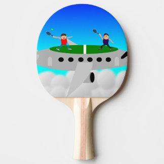 Tennis op de knuppels van een vliegtuigpingpong pingpongbat