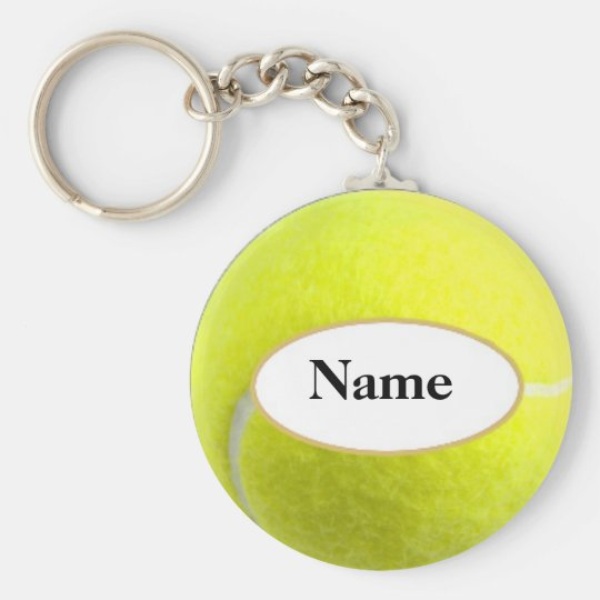 tennisball with your name on it sleutelhanger