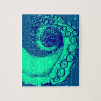 Tentakel van de Octopus van de wintertaling en van Puzzel