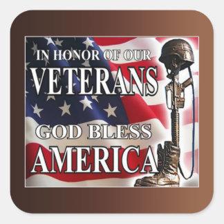 Ter ere van de Stickers van de Dag van Veteranen