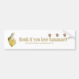 """""""Ter toe als u de Sticker van van de bananen"""" Bump Bumpersticker"""