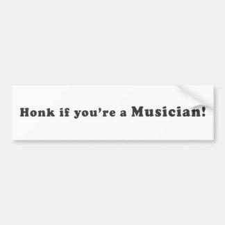 Ter toe als u een Musicus bent! Bumpersticker