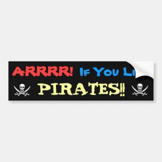 Ter voor Piraten toe! Bumpersticker