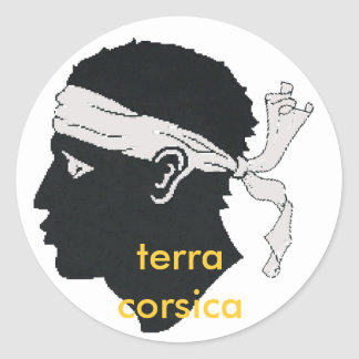 terra Corsica van stiker Ronde Sticker