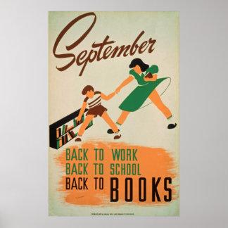 Terug naar het Vintage Poster van de School