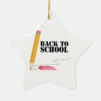 Terug naar School Keramisch Ster Ornament