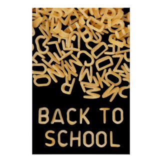 Terug naar schoolposter poster