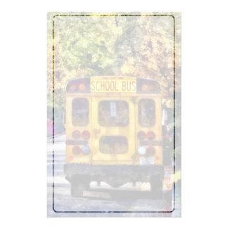 Terug van de Bus van de School Briefpapier