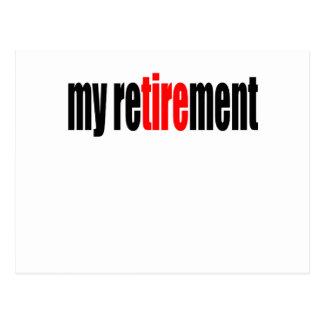 teruggetrokken de pensionering pensioen oude dag briefkaart