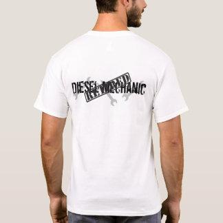 Teruggetrokken Diesel Werktuigkundige T Shirt