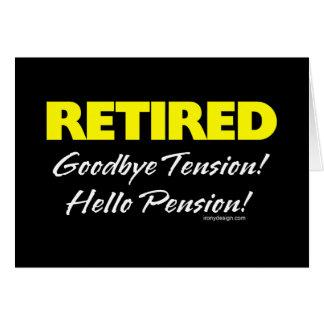 Teruggetrokken (Donker) Pensioen Hellow Wenskaart