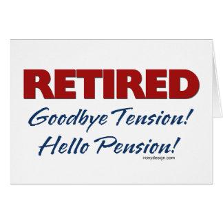 Teruggetrokken: Het Pensioen van Hello! Wenskaart