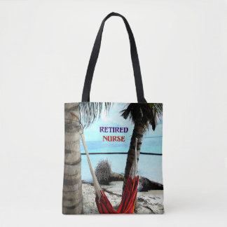 Teruggetrokken Verpleegster, hangmat op het strand Draagtas