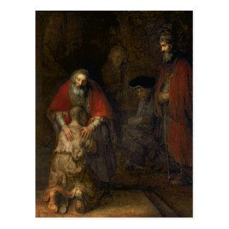 Terugkeer van de Kwistige Zoon, c.1668-69 Briefkaart