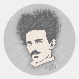 Tesla Statische II Ronde Sticker