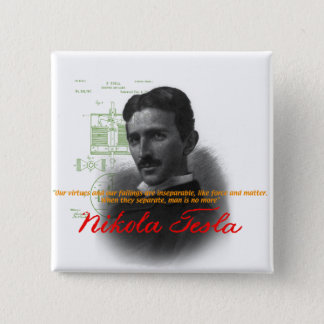 Tesla Vierkante Button 5,1 Cm