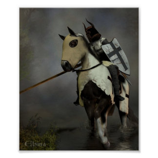 Teutonic Ridder Poster