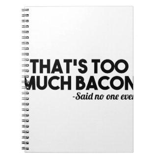 Teveel Bacon Ringband Notitieboek