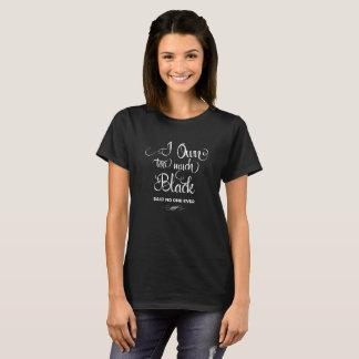 Teveel Zwarte T Shirt